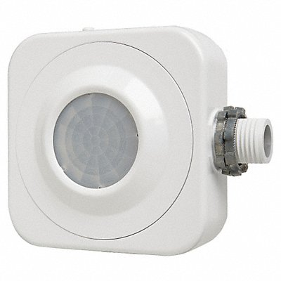 Fixture Mount Hard Wired Occupancy Sensor 2827 sq. ft Passive Infrared White