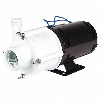 1/10 HP Polypropylene 115V Magnetic Drive Pump 24.3 ft Max Head