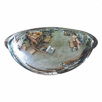 Indoor Acrylic Full Dome Mirror 360¬ Viewing Angle 36 Dia. Wall/Ceiling Mountable