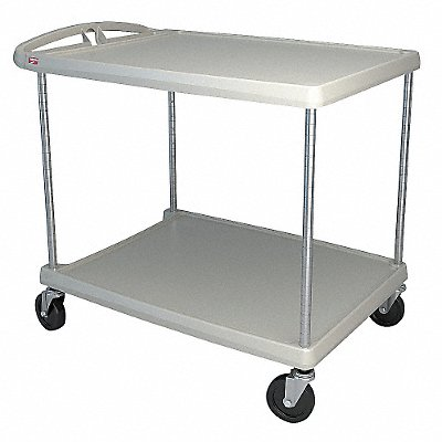 Polymer Raised Handle Utility Cart 400 lb Load Capacity Number of Shelves 2