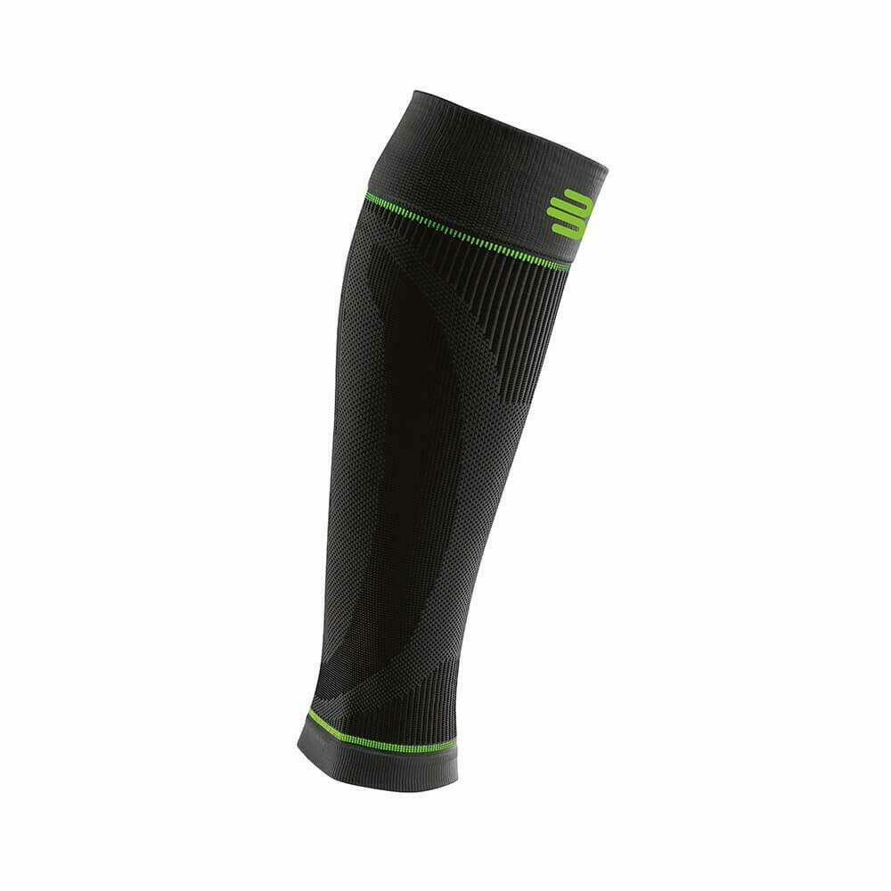 Bauerfeind Sports Compression Calf Sleeves, Lower Leg- Knit Fabric-1 Pair, Black