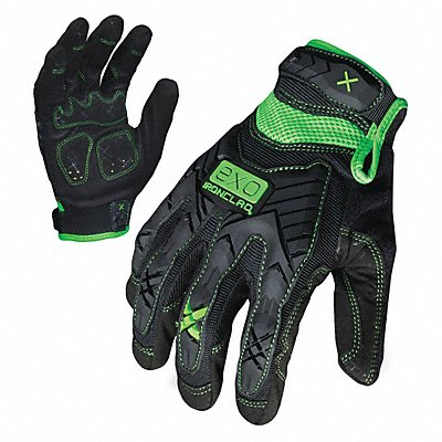 General Utility Impact Utility Glove Embossed Synthetic Leather Foam Padding Palm Material Black