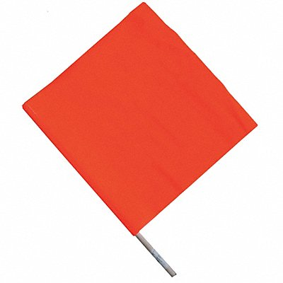Handheld Warning Flag Fluorescent Orange Rectangle 24 x 18