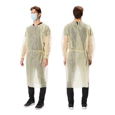 Protective Procedure Gown X-Large Yellow NonSterile Disposable