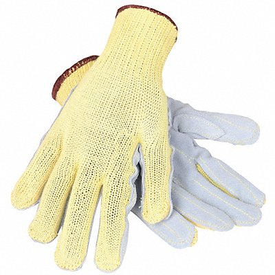 Uncoated Cut Resistant Gloves ANSI/ISEA Cut Level 3 Kevlar? Lining Gray Yellow L PR 1