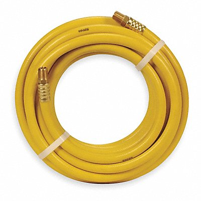 50 ft Air Hose Pneumatic Hose Max Pressure 300 psi Yellow