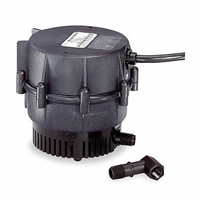 1/150 HP Compact Submersible Centrifugal Pump 115 Voltage Continuous Duty 6 ft Cord Length