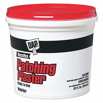 Patching Plaster 32 oz Size White Color Container Type Pail