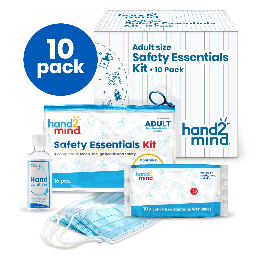 Safety Essentials Kits, Adult, Set of 10 Kits