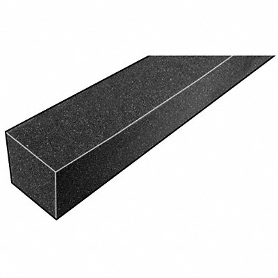 Open Cell Foam Strip 3010 Polyurethane 1-1/4 Thick 1-1/4 W X 42 L Charcoal