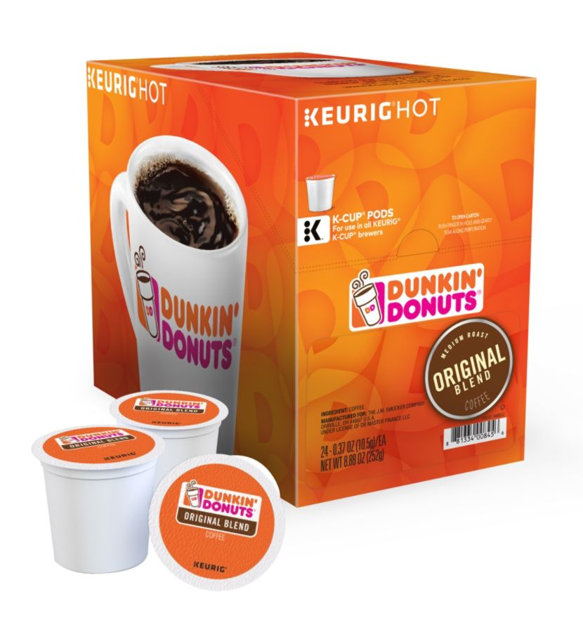 Dunkin' Donuts Coffee K-Cup Pods, Original, 0.4 Oz, Pack Of 24