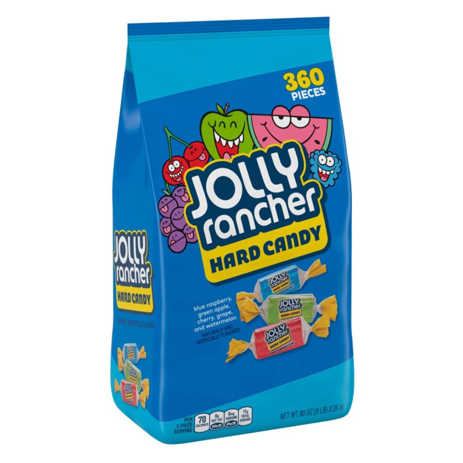 Jolly Rancher Hard Candy, Assorted Flavors, 5 Lb. Bag